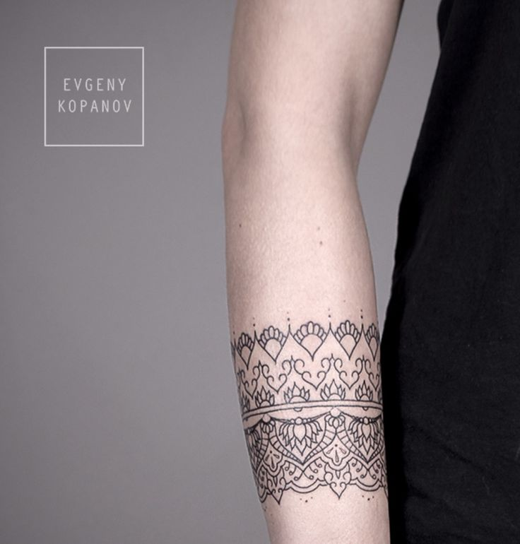 bracelet/geometric design tattoo
