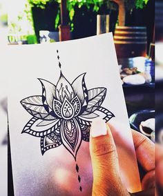 Lotus tattoo. I like this flower. It would a be beautiful beautiful tattoo in watercolor!!