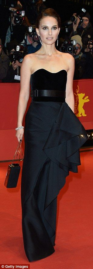 Brightening up her act: Natalie has made two stunning shows on the festival's red carpet so far this week, but kept her ensemble stylishly black in Lanvin