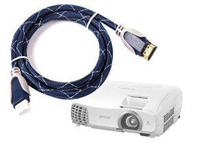 Câble HDMI pour iClever IC-P01 et Yokkao UC46 vidéo Projecteur Portable HD |longueur 1,8m| haute qualité, par DURAGADGET