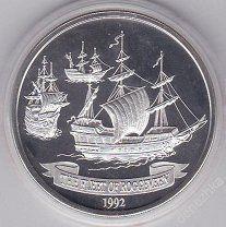 Самоа 10$ 1992 Корабль серебро