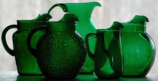 ...: Green Collection, Forests Green, Green Pitcher, Design Lists, Green Glasses, Depression Glasses, Design Idea, Green Gladswar, Friday Design