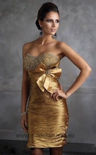 Abendkleid Cocktailkleid Online in Gold