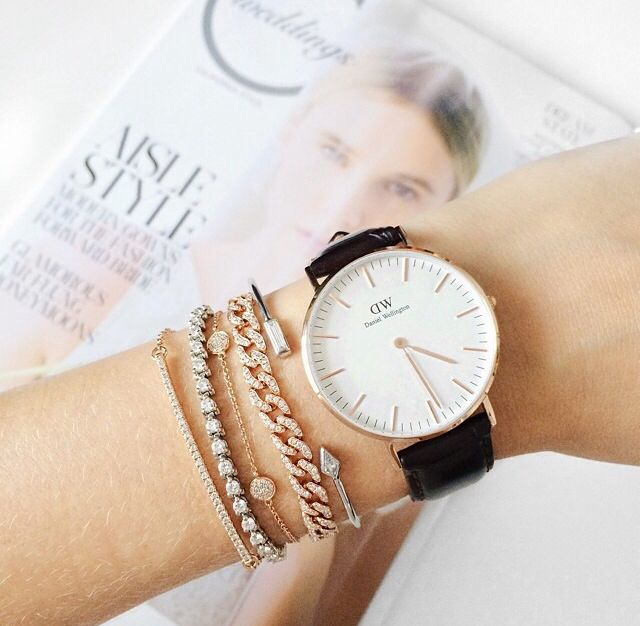 Watch and bracelets = arm candy