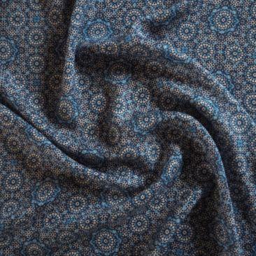 Moorish Blue Viscose Crepe Fabric - Guthrie & Ghani