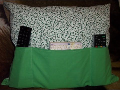 DIY remote control pilow to hide and keep all your remotes