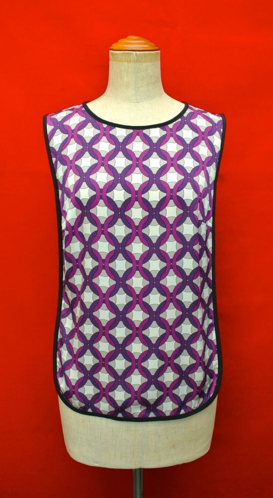 Authentic Trina Turk Black Grape Silk Sleeveless Blouse Top s Dress Skirt | eBay