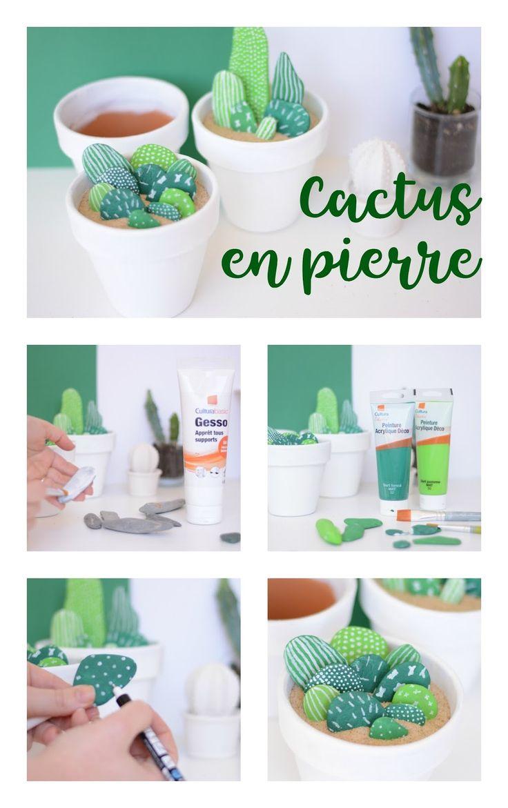 DIY Cactus en pierre / Autour de Cia - Blog Beauté & Lifestyle Bordeaux
