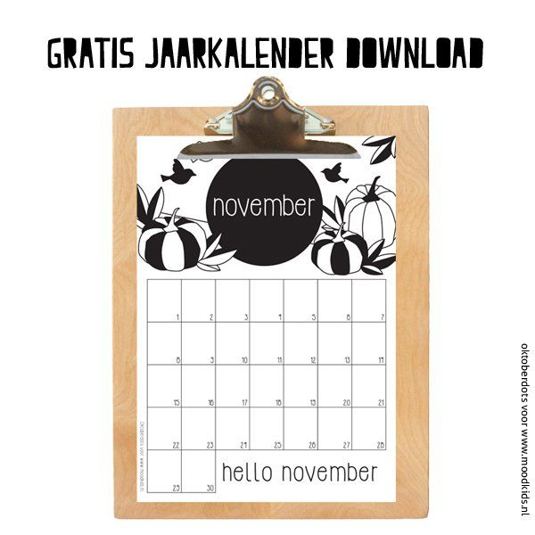 maandkalender #november van Oktoberdots #gratis #download