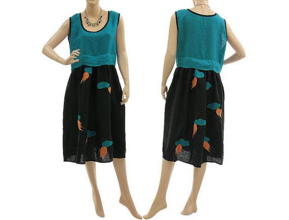 Artsy boho linen dress summer dress higher von classydress auf Etsy