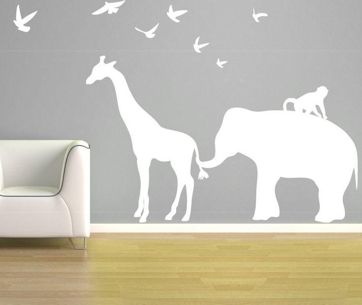 Elephant Giraffe Wall Decal, Aiden's room