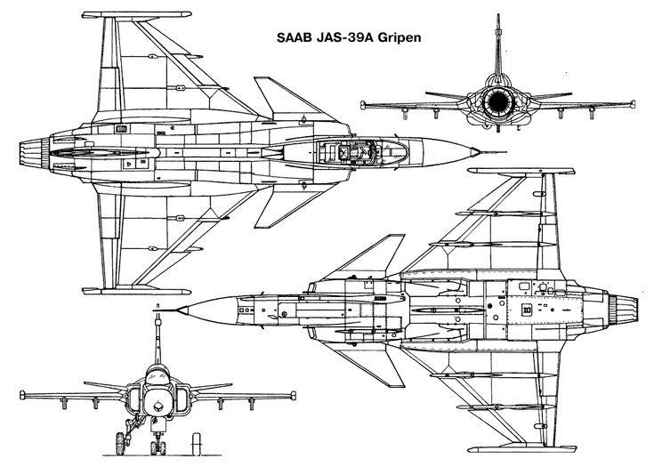 Image result for Saab JAS 39 Gripen digital line drawing