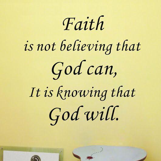 Let's keep the faith....