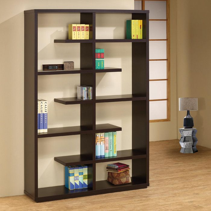 Staggered Frame Wooden Open Bookcase | Http://www.brookstone.com