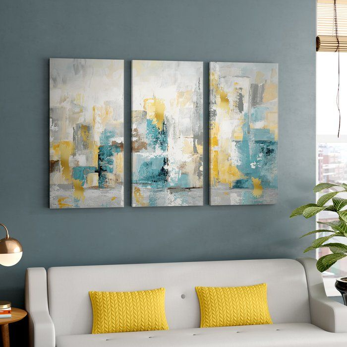 City Views I Wrapped Canvas Multi Piece Image Print Canvas Wall Art Canvas Painting Wall Art Living Room