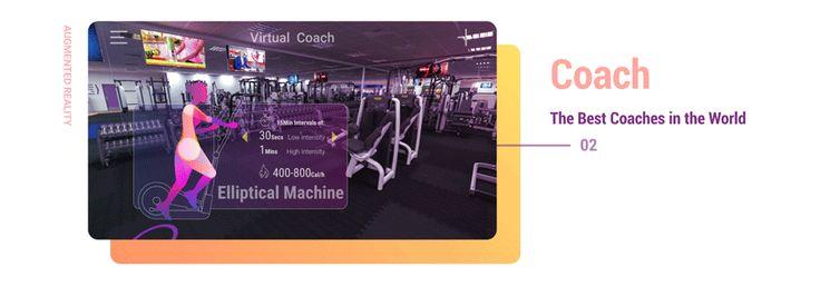 AR Virtual Fitness Coach App | AR 虚拟健身教练 on Behance