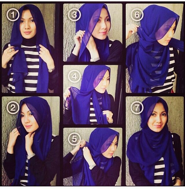 Fashionable hijab tutorial. Great work style