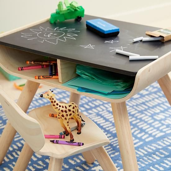 Shop Toddler Desk and Chair Set.  With a sleek bentwood design, our multifunctional toddler desk and chairs set is perfect for the active toddler.
