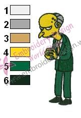 Charles Montgomery Burns Simpsons Embroidery
