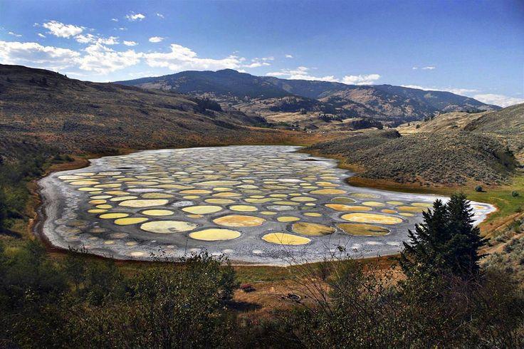 Le spotted lake, un lac tacheté très singulier, Colombie-Britannique, Canada - http://photomonde.fr/le-spotted-lake-un-lac-tachete-tres-singulier-colombie-britannique-canada/