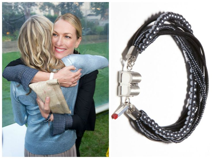 Model and actress Tatjana Patitz was also spotted wearing the CORDON Fashion-Hematite from BISAZO at Raffaello Summer Day. http://www.cliccessory.com/en/collections/bisazo/cordon/cordon-schmuckhematit.html Thanks to Getty Images and http://www.gala.de/stars/party/charity-raffaello-summer-day_1108784-i7436967 for the photos.