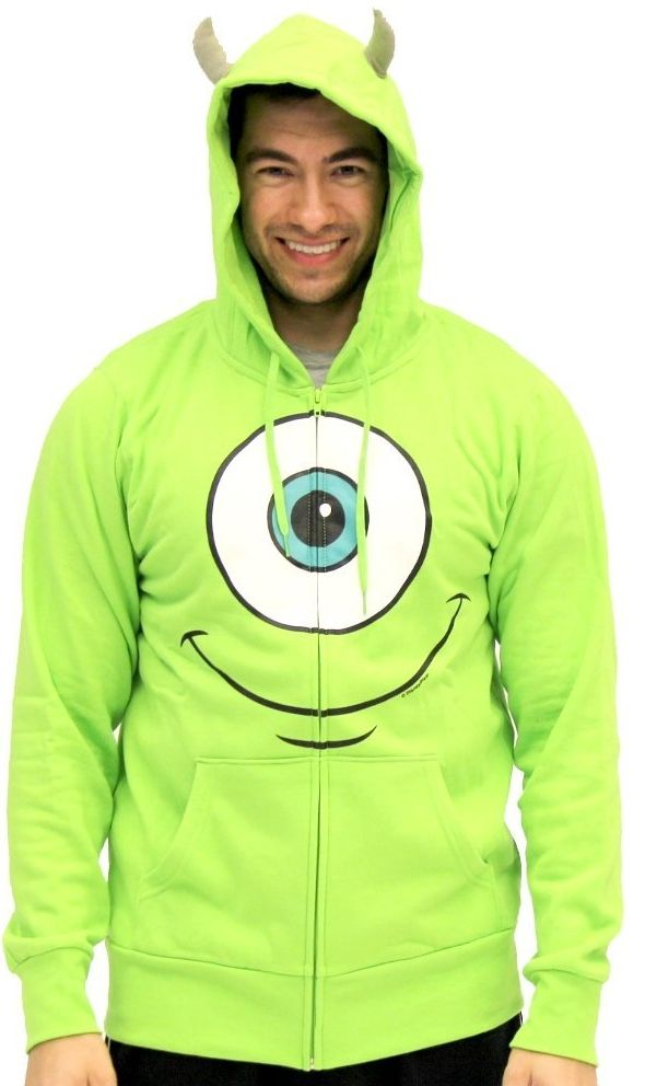 Monsters Inc University Mike Wazowski Adult Costume Sweatshirt Hoodie
