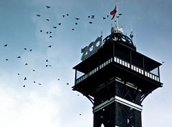 The iconic tower of the Copenhagen zoo