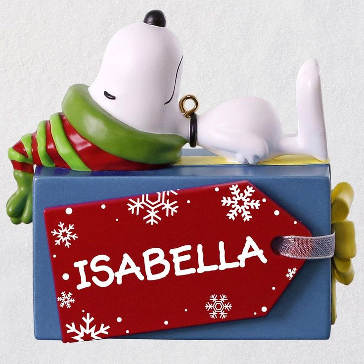 Peanuts® Snoopy Christmas Present Personalized Ornament in