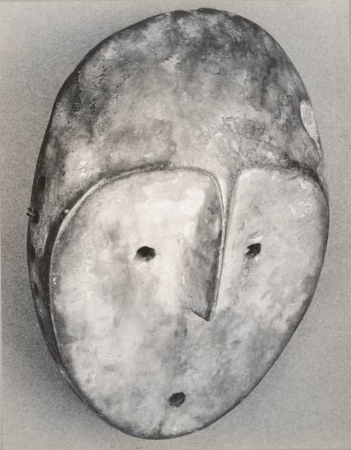 Walker Evans, Untitled (Lega mask, idimu, Democratic Republic of Congo), 1935, © Walker Evans Archive, The Metropolitan Museum of Art.