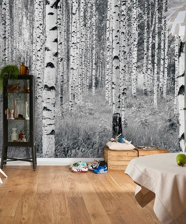 Look at this zulilyfind woods wall mural by brewster for Brewster wallcovering wood panels mural