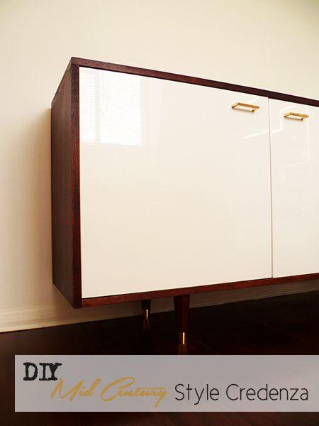 DIY : Mid Century Style Credenza