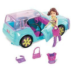 """Polly Pocket: Quik-Clik Cool Cruisers - Lila and Blue Roadster by Mattel. $55.99. Ages 4+.. Customize it! 12 Pieces.. Polly Pocket and her friends roll in style with the Quick-Clik Cool Cruisers. Girls can give the cruisers a style-over with the coolest Quick-Clik car fashions which means Polly and her pals can cruise the scene in style.Includes Lila doll, her cool blue roadster, Quick-Clik fashions and accessories. Vehicle measures 6.5"""" x 3.25""""W x 2.75""""H. Doll measures 3.5"""" tal..."""