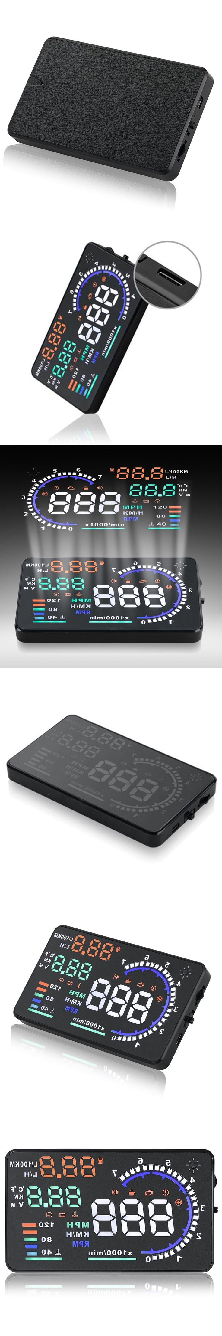 Universal Car styling HUD Head Up Display Car Speed Projector Velocimetro Auto Car Speedometer OBD2 Interface