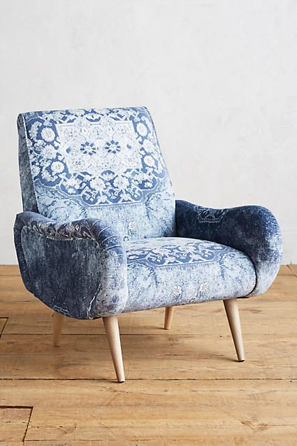 Anthropologie Rug-Printed Losange Chair