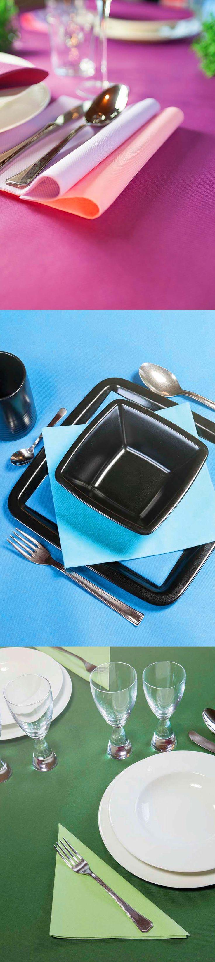 Colora la tua tavola con le tinte unite Class airlaid.