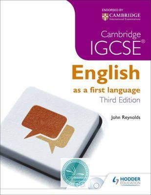 9781444191660, Cambridge IGCSE English First Language 3rd Edition + CD - CIE SOURCE