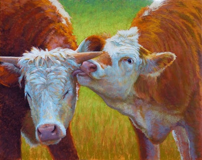 """""""Brotherly Love"""" pastel, 24x36 inches"""