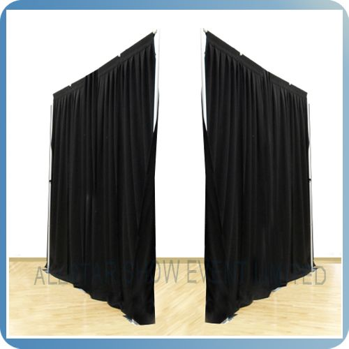 Cheap ceiling curtain room divider - Pipe  Drape $50~$100