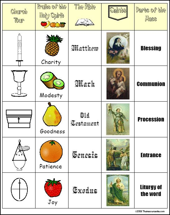 The Catholic Toolbox: Free Games Online - BINGO game