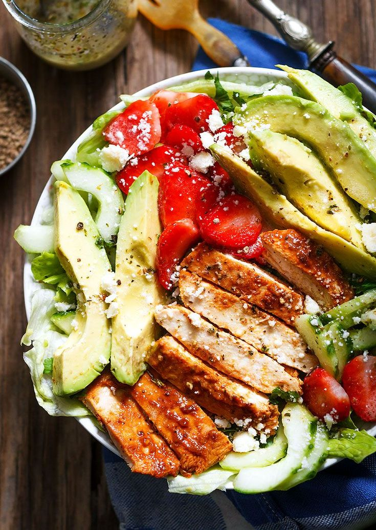 Everything about this honey lime grilled chicken salad is delicious and it uses the same base mixture for the marinade and for drizzling over