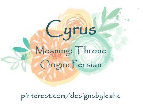 Baby Boy Name: Cyrus. Meaning: Throne. Origin: Persian. #babyname #babynames #babyboynames #babyboyname #biblicalbabynames #cyrus