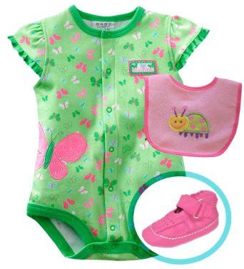 "Toko Sepatu Bayi Online - Bayi Boutique ® Bayi-Bayi perempuan ""Indah Baby"" baju monyet dan Koordinasi Kulit Lembut Sole Set Sepatu, Pink, Ukuran: New Born sampai 9 bulan (3-6 bulan) | Pusat Sepatu Bayi Terbesar dan Terlengkap Se indonesia"