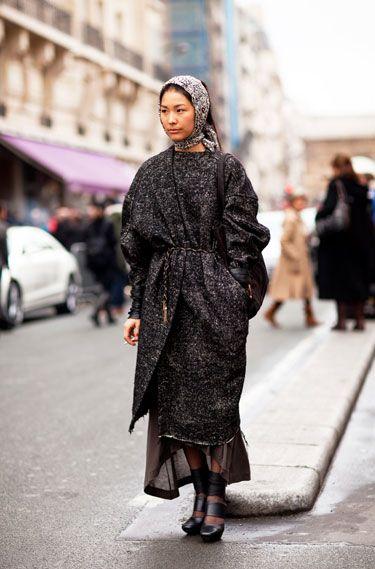 Paris Street Style - 2012 Haute Couture Parisian Street Style - Harper's BAZAAR