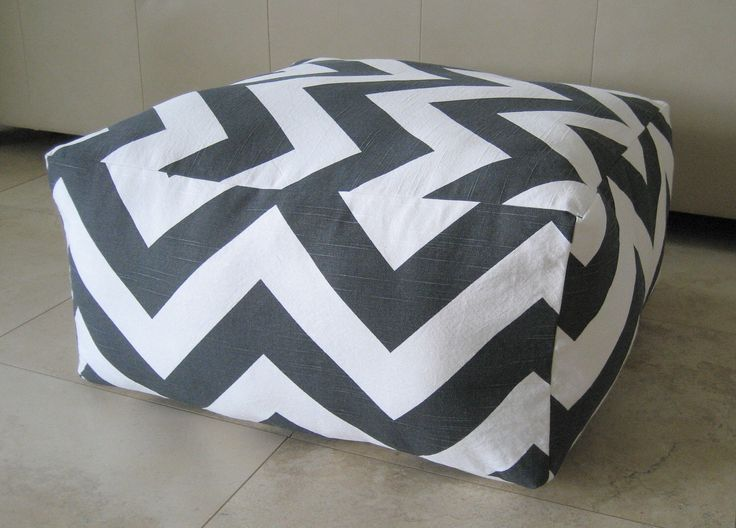 More Colors - Square Pouf Floor Pillow Charcoal White Zippy Zig Zag Chevron by aletafae on Etsy https://www.etsy.com/listing/73764984/more-colors-square-pouf-floor-pillow