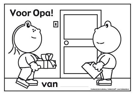 Frokkie en Lola gaan op bezoek bij opa! Hij is jarig en ze hebben een cadeau en mooie tekening meegenomen. Hopelijk is opa er blij mee!