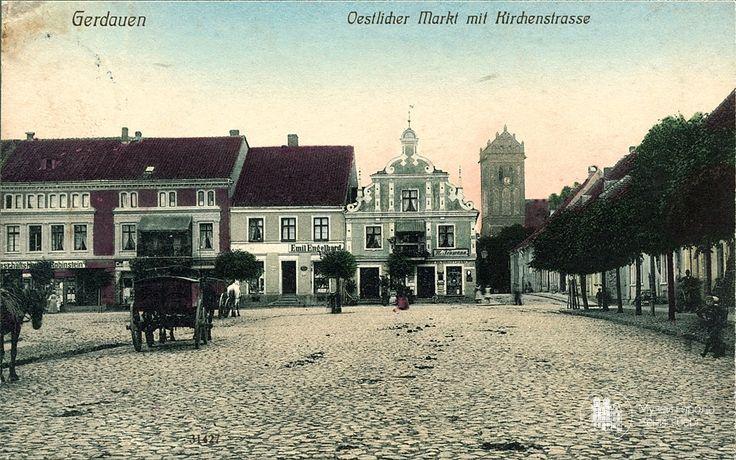 Гердауен – Железнодорожный. Рыночная площадь. Фото ок. 1900 г.