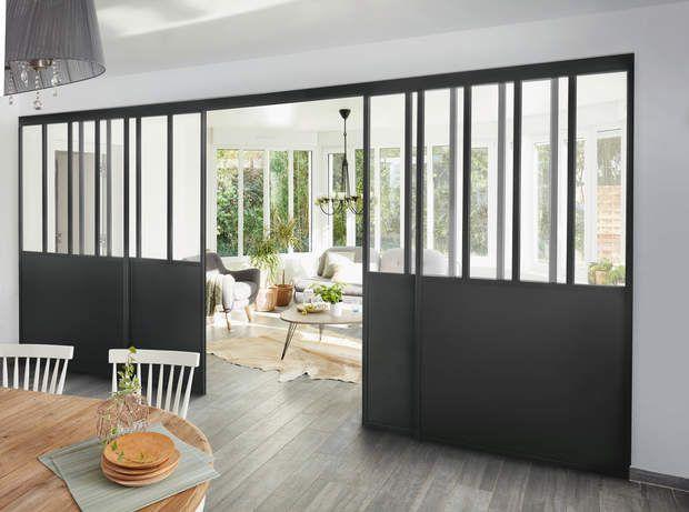 17 meilleures id es propos de double porte coulissante - Cloison amovible style atelier ...