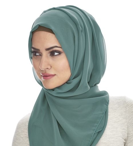 SEA GREEN SOFT GEORGETTE HIJAB