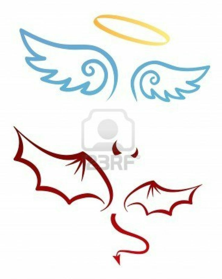 Angel and devil attributes Stock Photo - 3478008