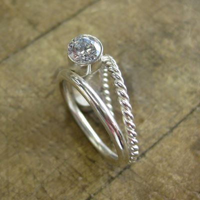 Custom engagement ring by Jewelust by Amanda Henderson. You can't see it here, but there is a hidden treasure for the lucky lady- pretty etching on the inside of the ring!